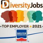 シェルター保険(アメリカ)が2021年の「最もダイバーシティ(多様性)に優れた雇用主」に選ばれる